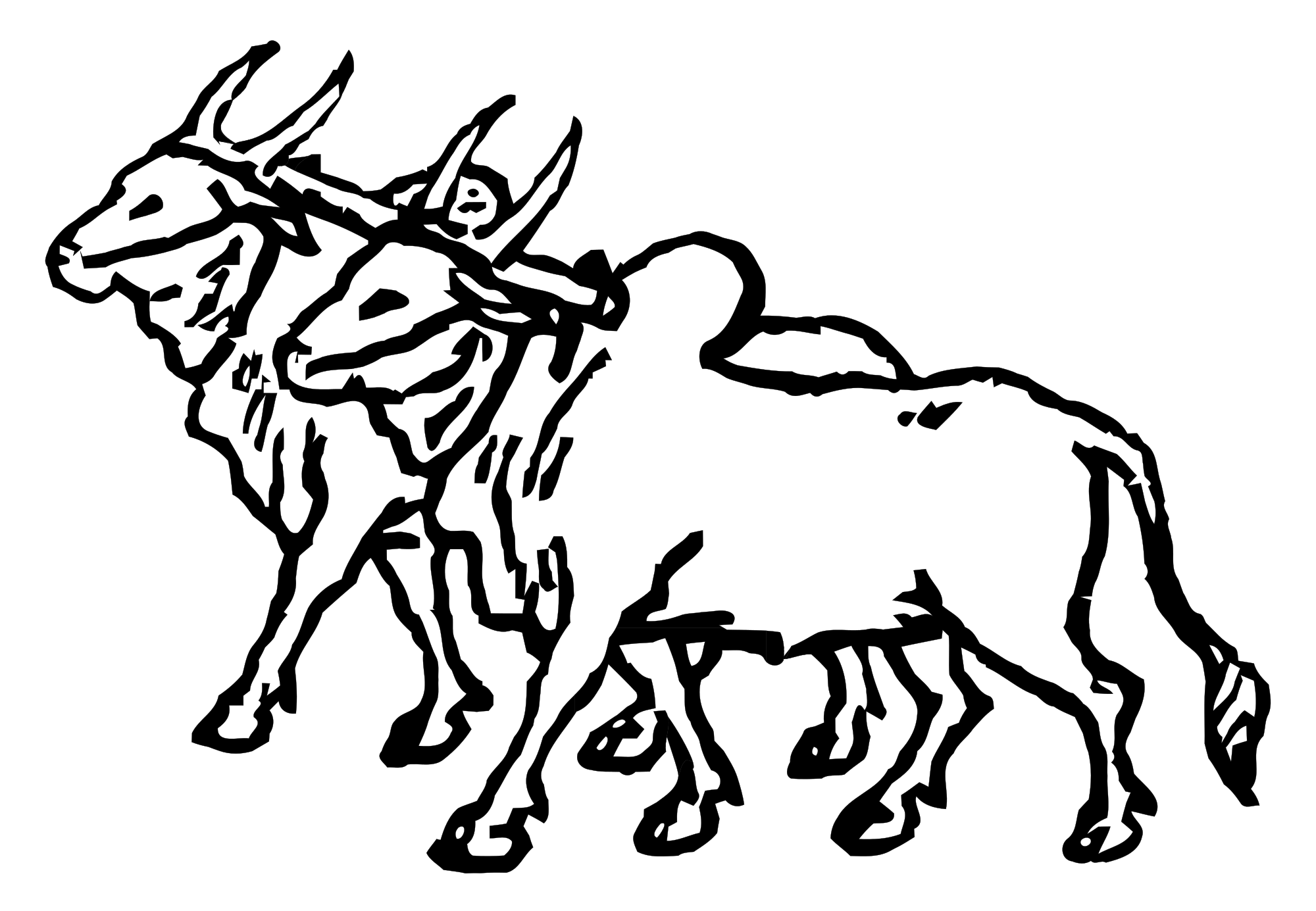 Oxen drawing at getdrawings. Ox clipart ox wagon