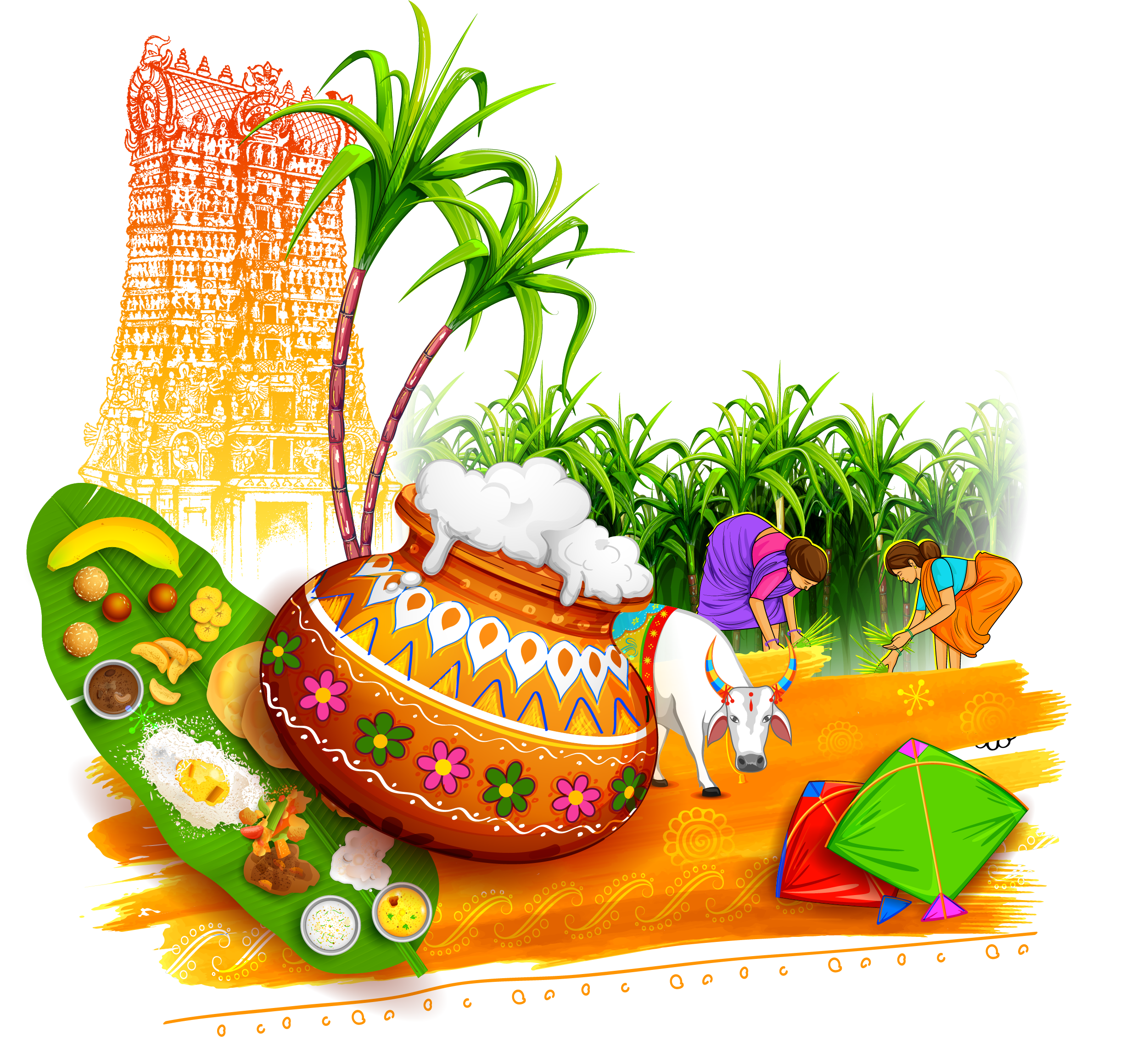 Farming clipart pongal.  collection of thai