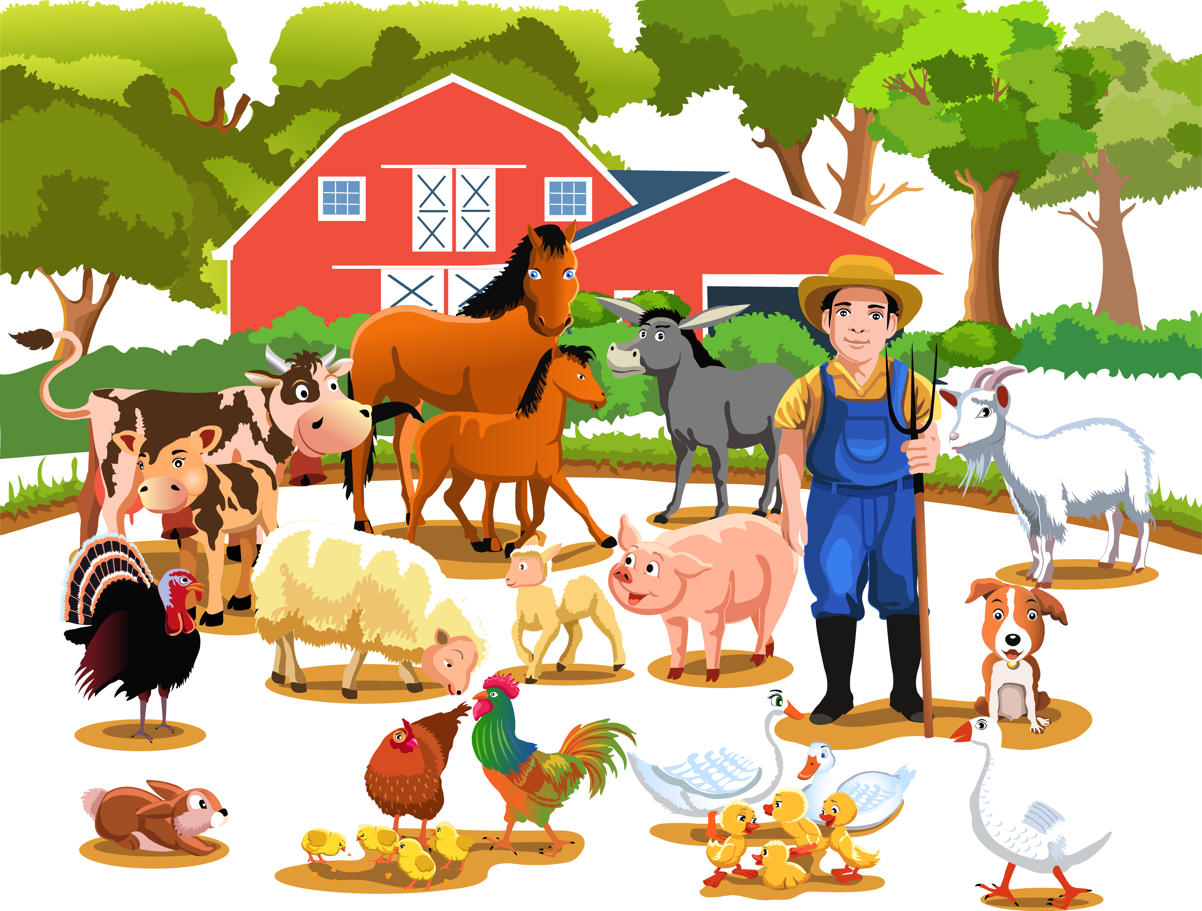 Livestock agriculture illustration happy. Farming clipart strawberry farm