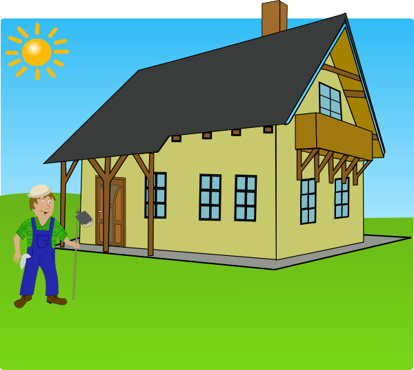 Home clipart animated. Farm background clip art