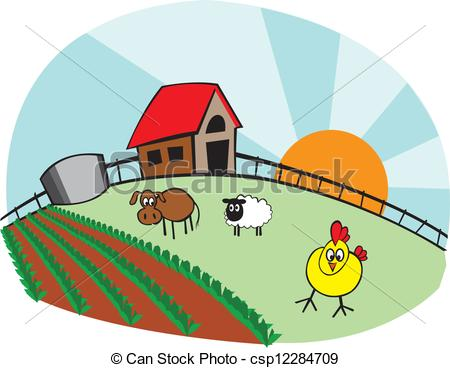 Small . Farmhouse clipart