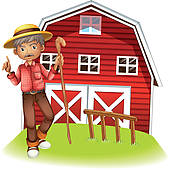 Farmhouse clipart. Old clip art royalty