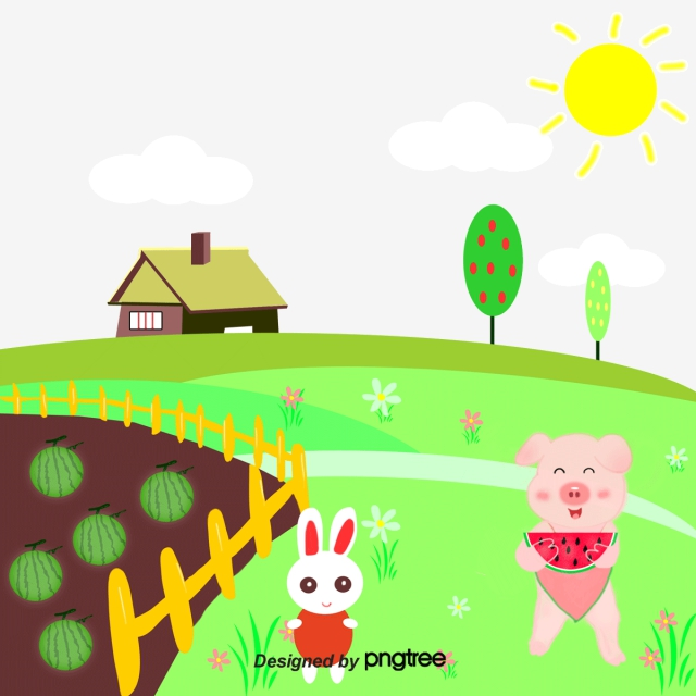 Farmhouse clipart animated. Png vector psd and