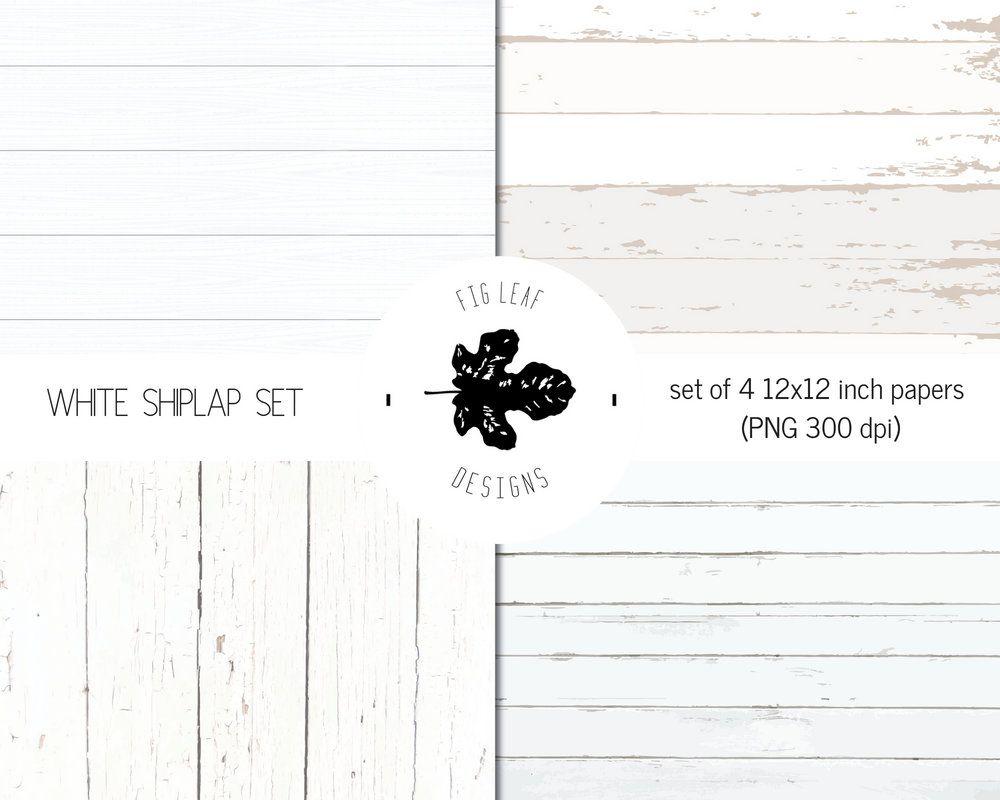 Shiplap digital paper white. Farmhouse clipart backdrop