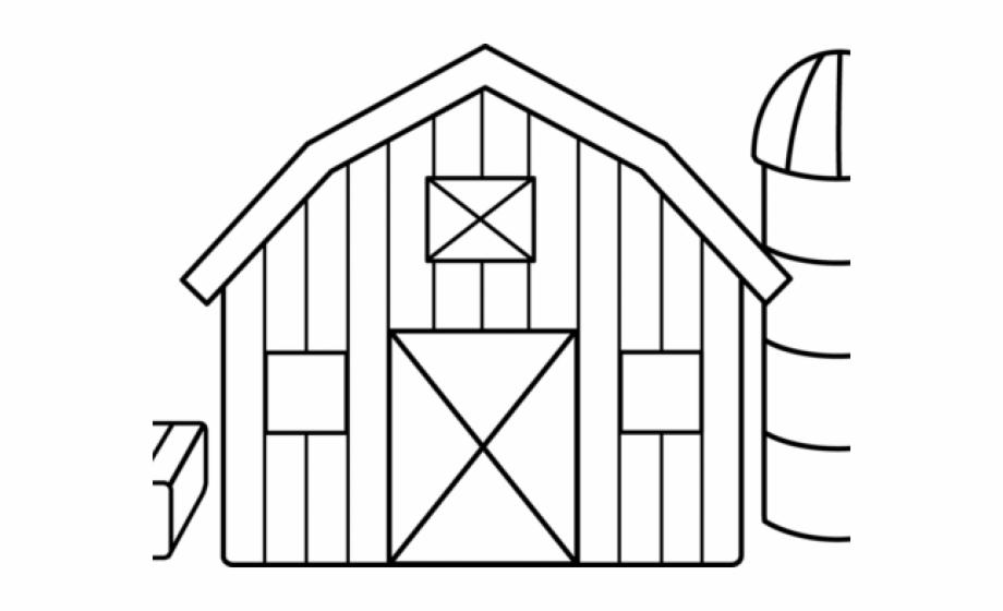 Farm house barn coloring. Farmhouse clipart barnhouse