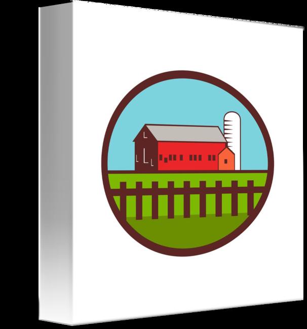 Farm barn house silo. Farmhouse clipart barnhouse