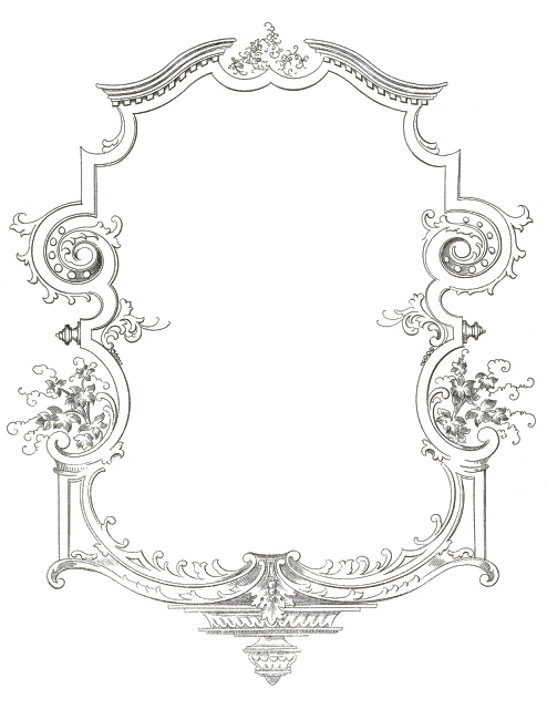 Fancy scrolled frame from. Flourish clipart signature