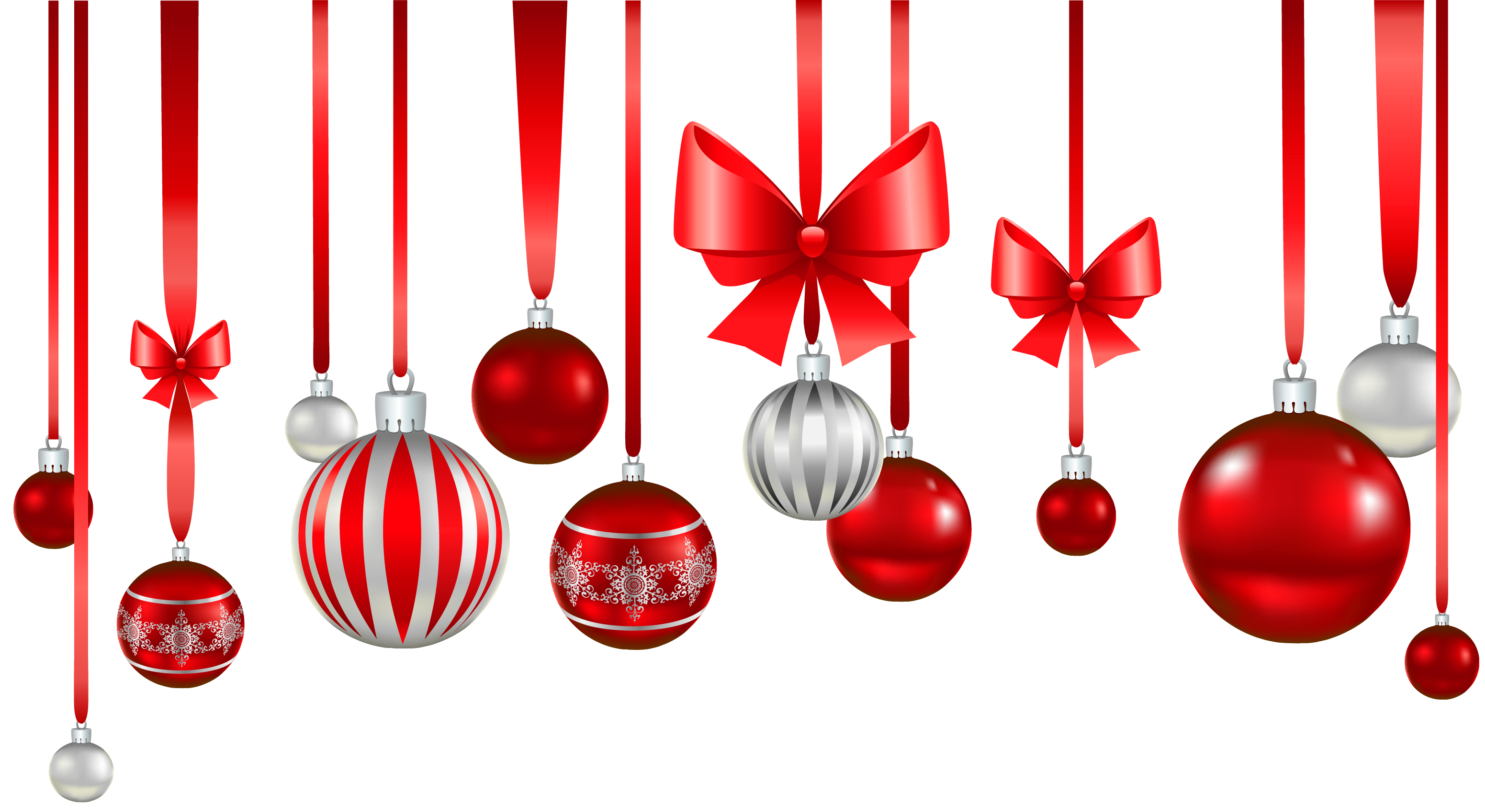Red white balls ornament. Christmas images png
