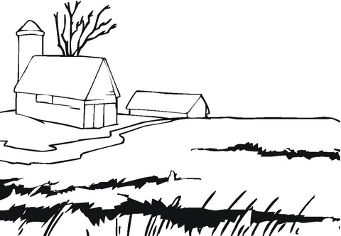 Page free printable pages. Farmhouse clipart coloring
