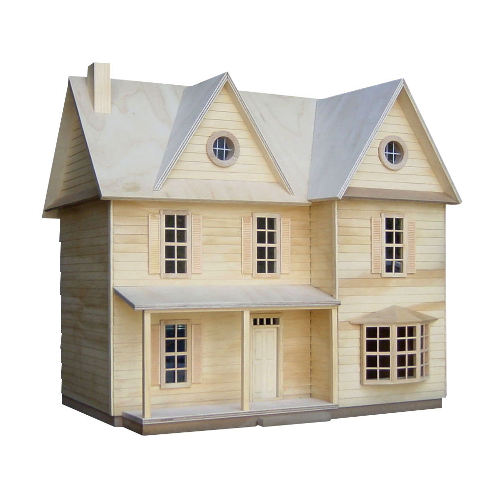 Farmhouse clipart country house.  inch scale dollhouse