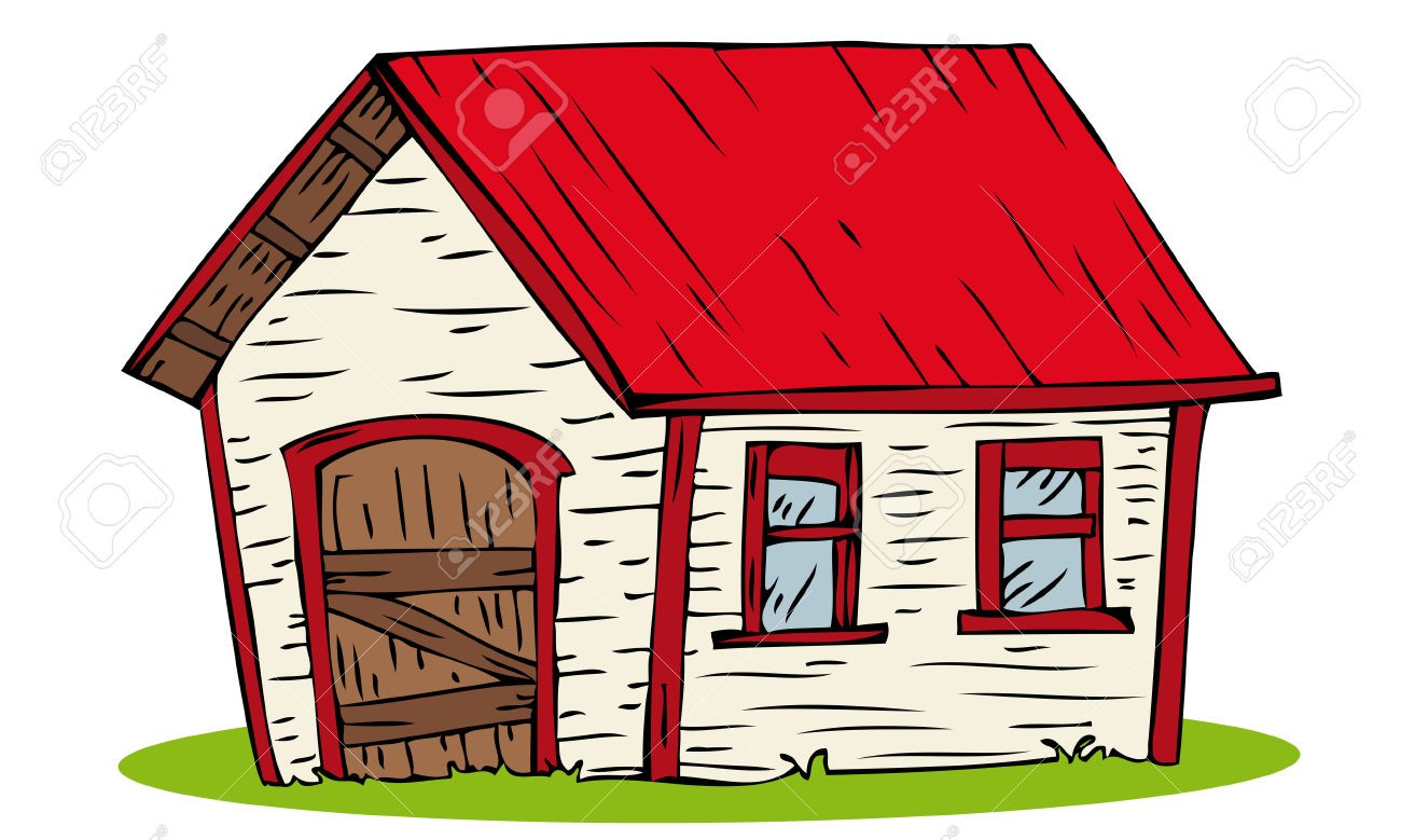 Within of a farm. Farmhouse clipart country house