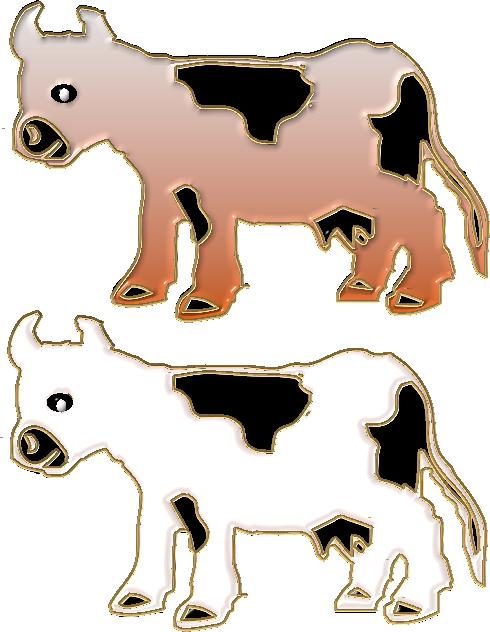 Farmhouse clipart cow. Animais da fazenda e