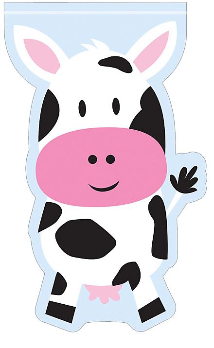 Farmhouse clipart cow. Fun loot bags just