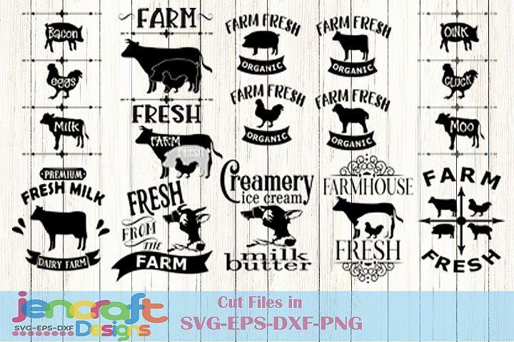 Farm svg sign design. Farmhouse clipart cow