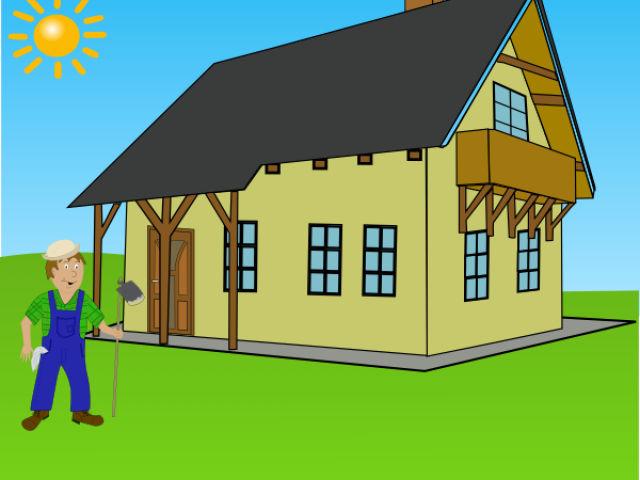 Farmhouse clipart cute. Cartoon farm house images