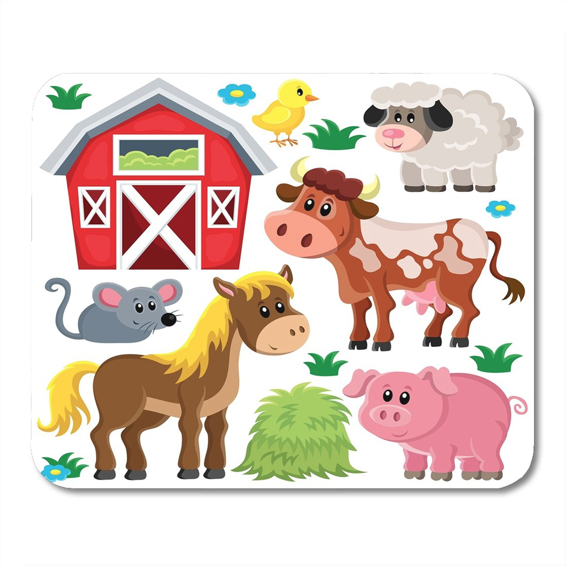Amazon com nakamela mouse. Farmhouse clipart cute