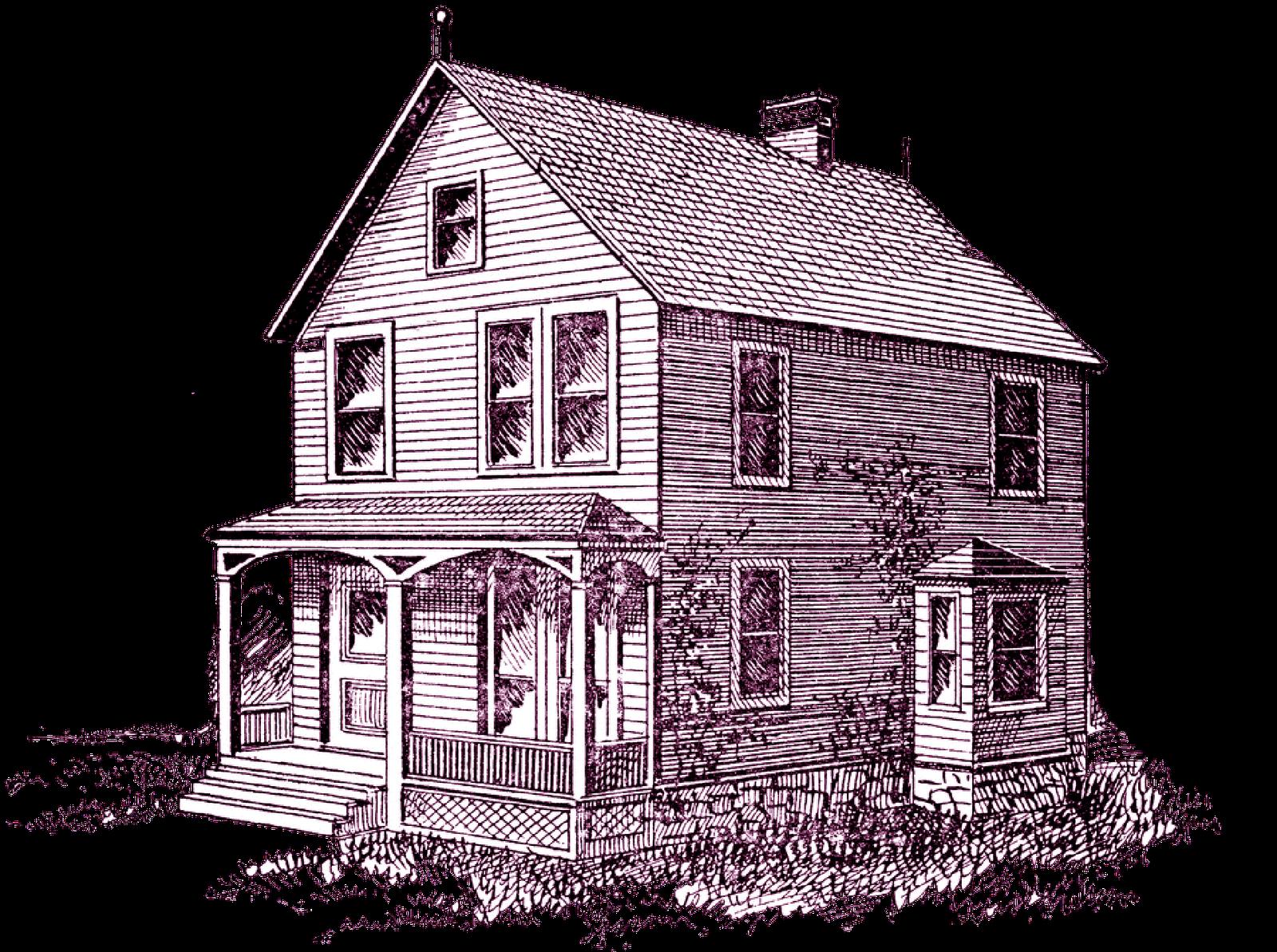 Farmhouse clipart drawing. House porch clip art
