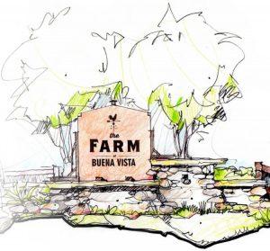 Farmhouse clipart farm community. The at buena vista