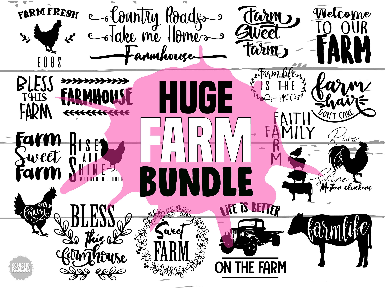 Svg bundle . Farmhouse clipart farm life