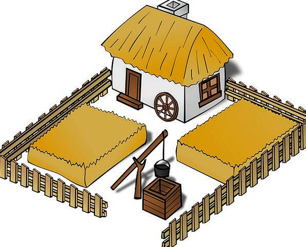 Building structure buildings chart. Farmhouse clipart farm map
