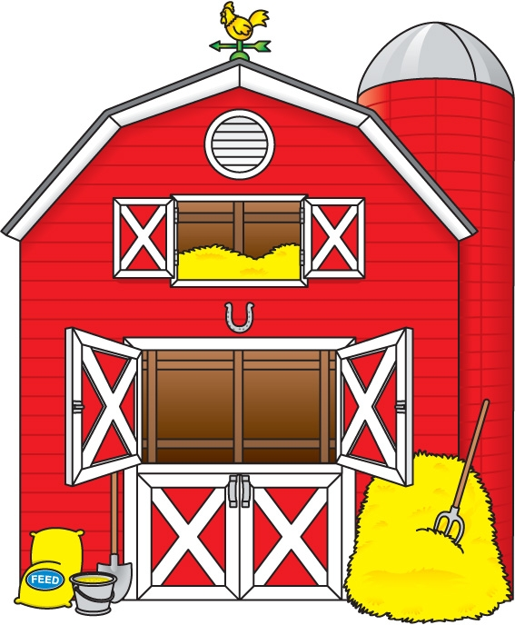 house clipartlook. Farmhouse clipart farm shed
