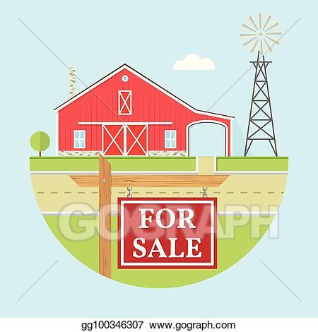 Vector art family icon. Farmhouse clipart field trip