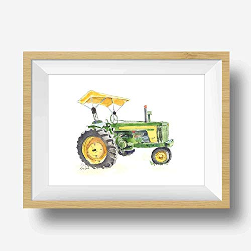Farmhouse clipart green farm. Amazon com tractor wall