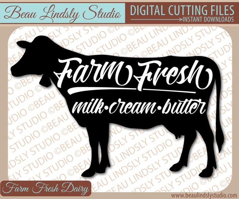 Farmhouse clipart milk farm. Cow svg country fresh