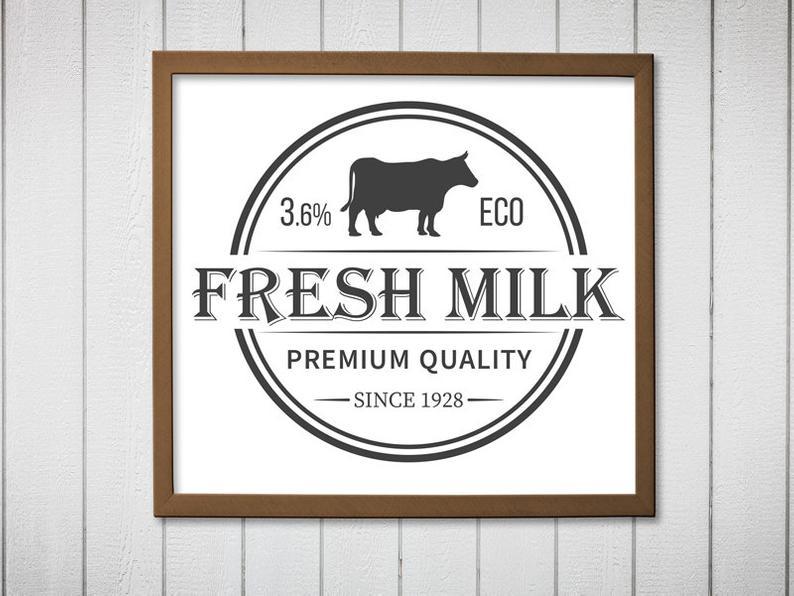 Fresh svg decor rustic. Farmhouse clipart milk farm