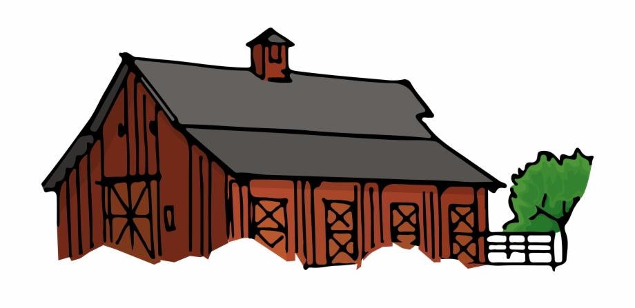 Farmhouse clipart nice house. Farm cartoon png transparent