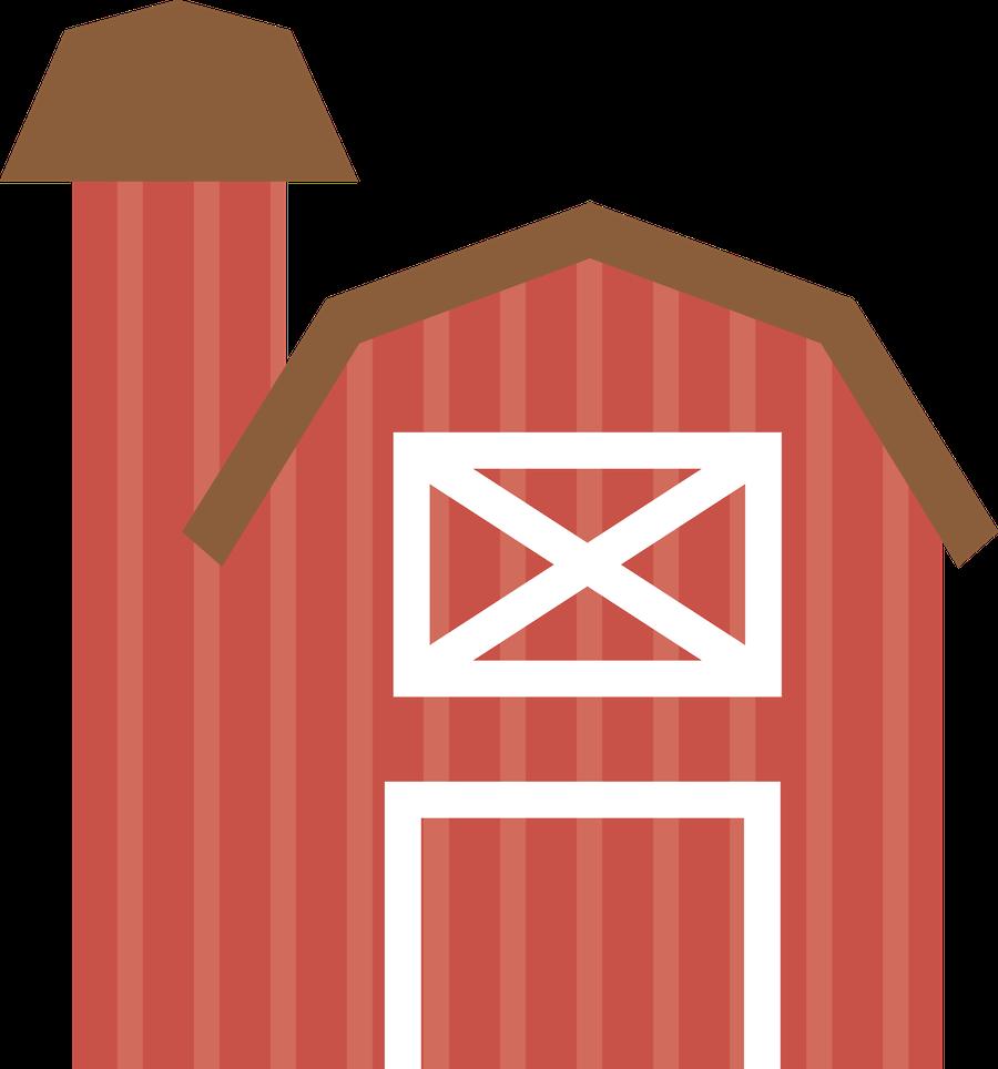 Farm red minus fazendinha. Farmhouse clipart preschool