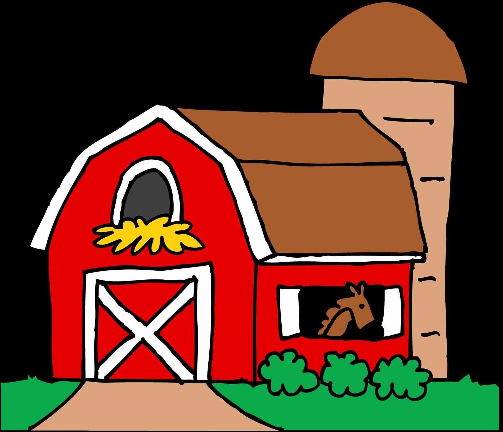 Farmhouse clipart red farmhouse. Barn best of