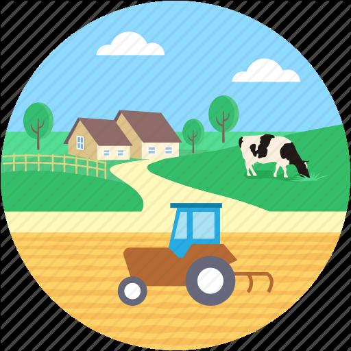 landscape by creative. Farmhouse clipart rural place