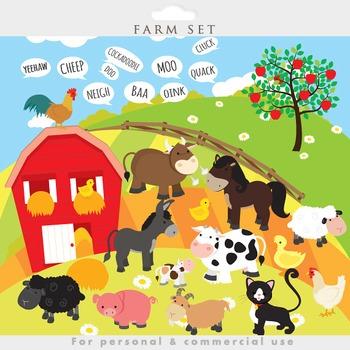 Animals clip art cow. Farmhouse clipart sheep farm