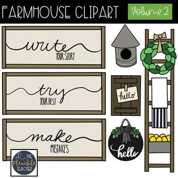 Volume . Farmhouse clipart teacher