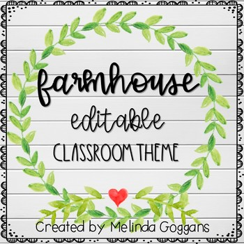 Farmhouse clipart teacher. Classroom theme fully editable