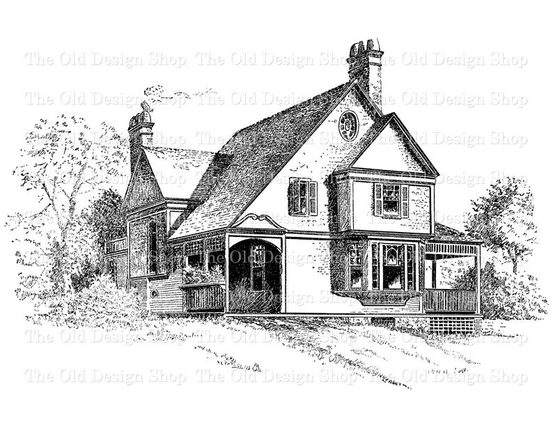 Farmhouse clipart victorian home. Cottage clip art vintage