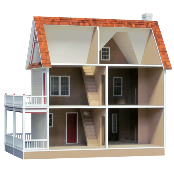 Finished inch scale victoria. Farmhouse clipart victorian home