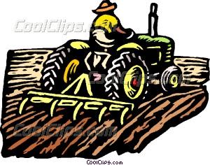 Farming clipart. Farmer on tractor vector