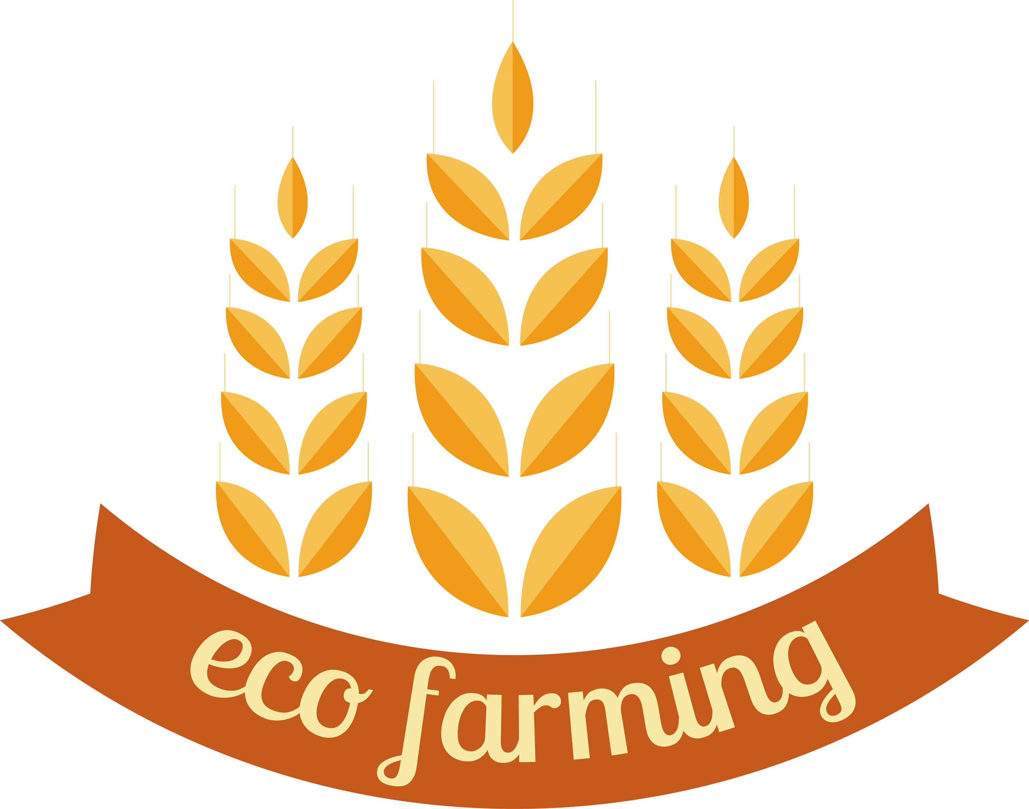 Common logo farm label. Wheat clipart agriculture