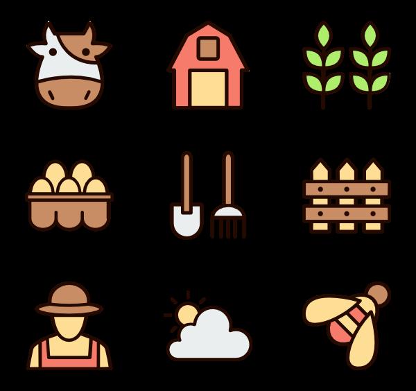 Icons free vector farm. Farming clipart empty field