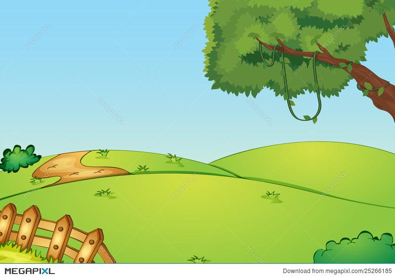 Hills clipart yard. Empty field illustration megapixl