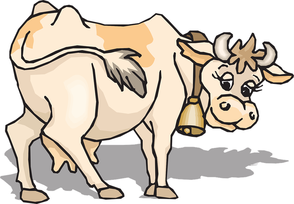 pixabay cow. Farming clipart gif animation
