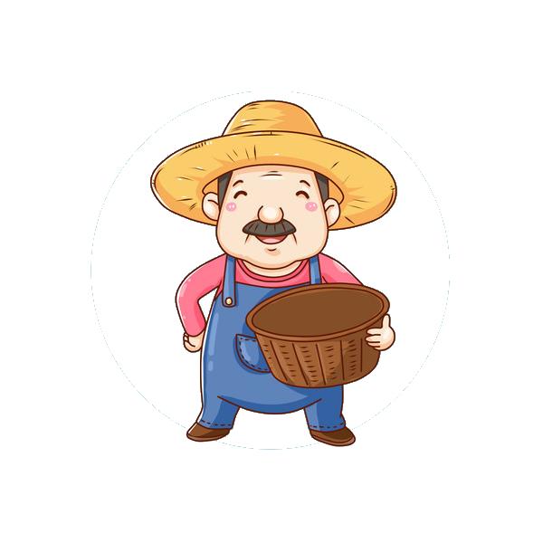 Fellah farmer animation happy. Farming clipart peasant