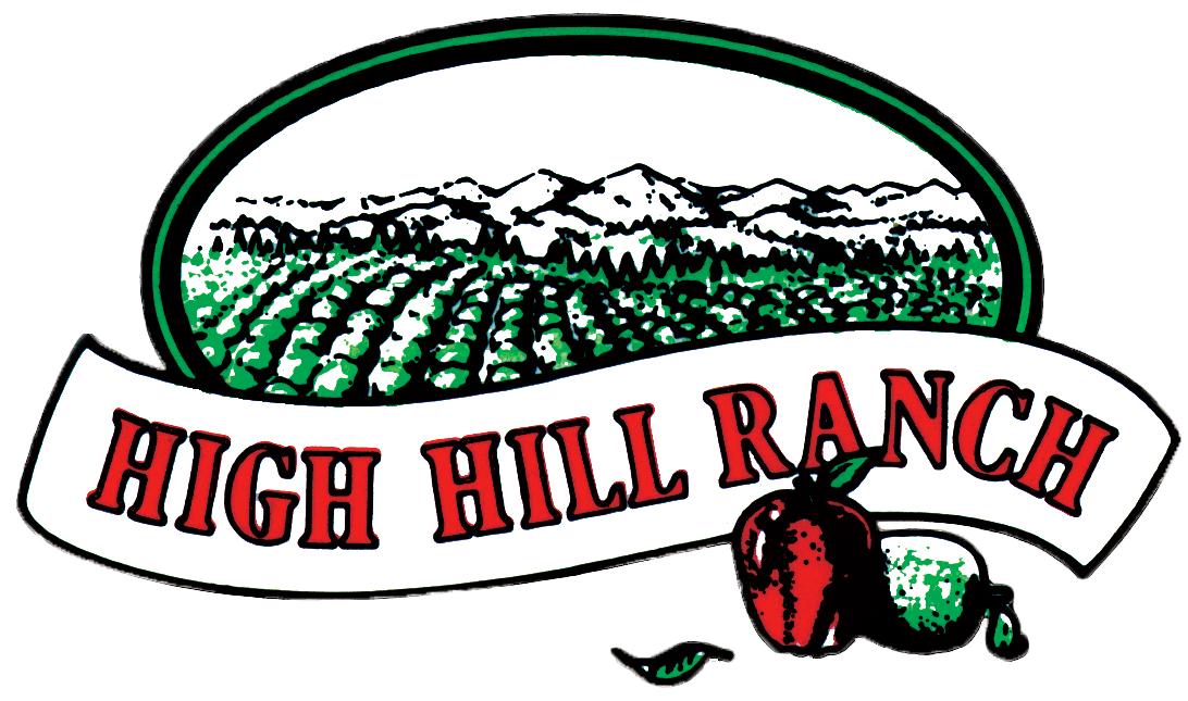 High ranch apple farm. Hills clipart hill top