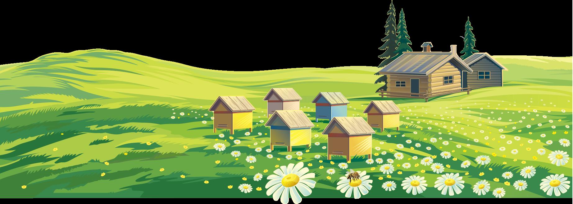 Farming clipart rural area. Bee landscape painting farm