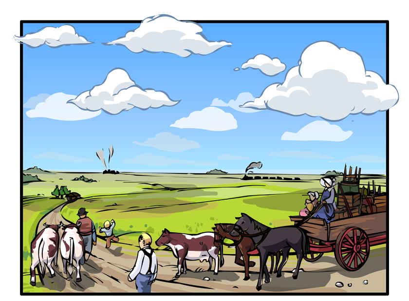Forests fields and the. Farming clipart rural area