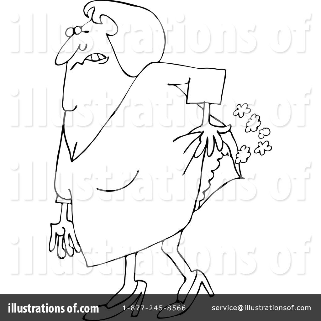 Farting illustration by djart. Fart clipart colored