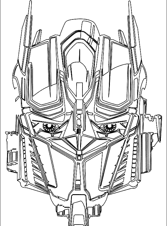 Face optimus prime transformers. Fart clipart coloring page