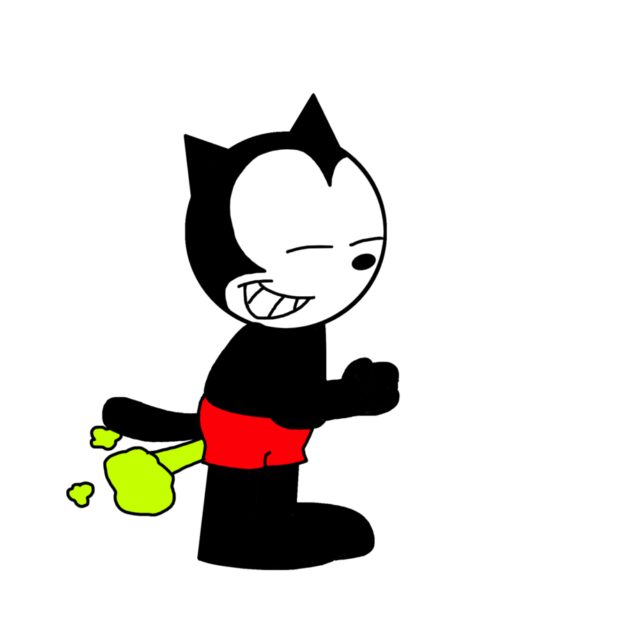 Fart clipart drawing. Homer the cat farting